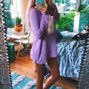 cozy lavender knit